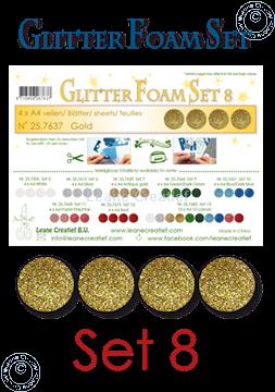 Picture of Glitter Foam set 8, 4 sheets A4 Gold