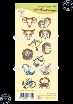 Picture of LeCreaDesign® combi clear stamp Zodiac signs