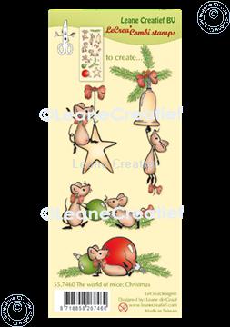 Image de LeCreaDesign® tampon clair à combiner The world of mice Noël