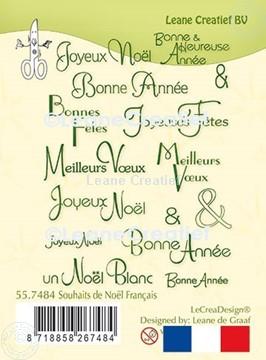 Image de LeCreaDesign® tampon clair Souhaits de Noël Français